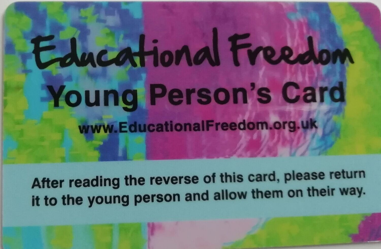 Young Person Card