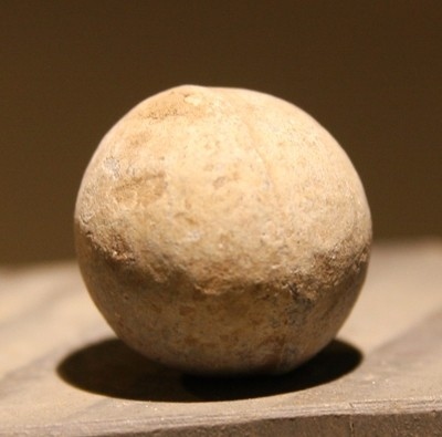 JUST ADDED ON 5/2 - ANTIETAM - POFFENBERGER WOODS  / WENTWORTH MILITARY ACADEMY COLLECTION - .69 Caliber Musket Ball found in 1956