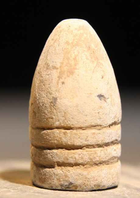 JUST ADDED ON 5/15 - THE BATTLE OF GETTYSBURG / EMMITSBURG ROAD JUST SOUTH OF THE POSITION HELD BY LAW'S BRIGADE - .58 Caliber Bullet - Possibly Nose Cast