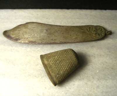 JUST ADDED ON 10/30 - THE BATTLE OF THE WILDERNESS  - Two Relics Including a Thimble