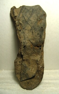 JUST ADDED ON 1/8 - NASHVILLE - LARGE PIECE FROM THE INSOLE OF A CIVIL WAR SOLDIER'S BROGAN - Recovered in the 1990s during Construction of the Titan's Nissan Stadium