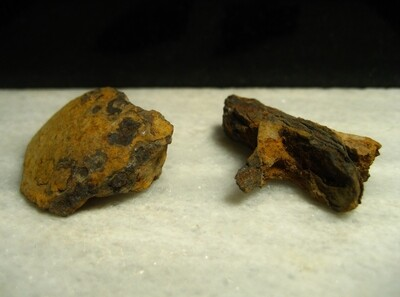JUST ADDED ON 1/8 - GETTYSBURG / THE ROSENSTEEL COLLECTION - Artillery Shell Fragment and Piece of a Gun Tool - found by John Cullison 1930-1960