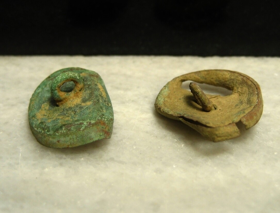 JUST ADDED ON 1/15 - THE BATTLE OF ANTIETAM / DUNKER CHURCH - Two Coat-Sized Uniform Button Backs