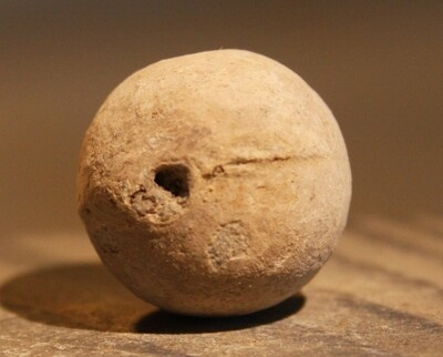 JUST ADDED ON 2/19 - THE BATTLE OF GETTYSBURG / EMMITSBURG ROAD JUST SOUTH OF THE POSITION HELD BY LAW'S BRIGADE - .69 Caliber Musket Ball with Casting Flaw