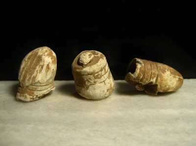 JUST ADDED ON 2/26 - BATTLE OF GETTYSBURG / CULP'S HILL - Three Fired Bullets including a Type I William's Cleaner Bullet