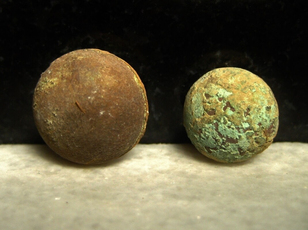 JUST ADDED ON 3/24 - THE BATTLE OF ANTIETAM / DUNKER CHURCH - Two Zouave Style or Ball Cuff Buttons