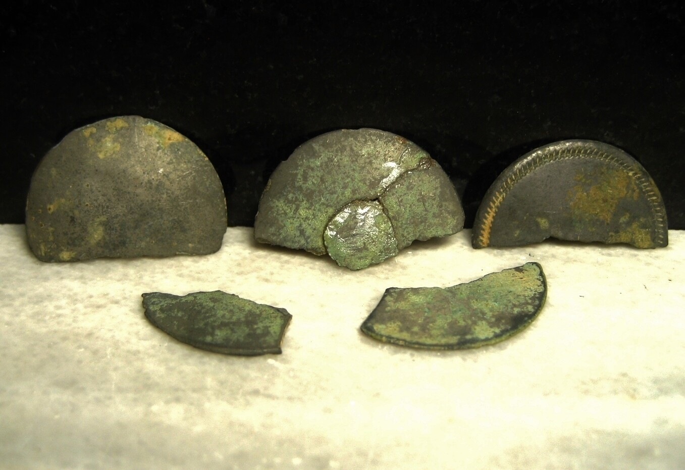 JUST ADDED ON 4/8 - THE BATTLE OF ANTIETAM / DUNKER CHURCH - Pewter Button Fragments