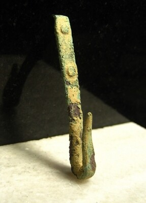 JUST ADDED ON 4/15 - 1862 PENINSULA CAMPAIGN / HARRISON'S LANDING / III CORPS AREA - Sword Belt or Musket Slink Hook - Recovered by Andy Keyser in the late 1980s