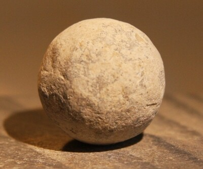 JUST ADDED ON 5/27 - THE BATTLE OF GETTYSBURG / EMMITSBURG ROAD JUST SOUTH OF THE POSITION HELD BY LAW'S BRIGADE - .69 Caliber Musket Ball