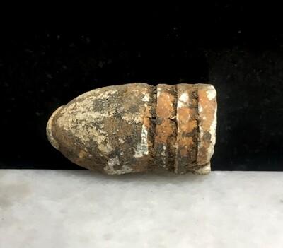 JUST ADDED ON 7/15 - GETTYSBURG - DEVIL'S DEN / SLAUGHTER PEN /  ROSENSTEEL FAMILY - Burned and Partially Melted .54 Caliber Bullet