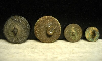 JUST ADDED ON 8/6 - THE BATTLE OF ANTIETAM / DUNKER CHURCH - Four Coin / Flat Buttons - One with String Still Attached