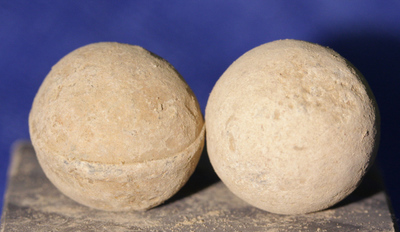 JUST ADDED ON 1/16 - THE BATTLE OF CEDAR CREEK - Two .69 Caliber Round Balls - 1 with mold line