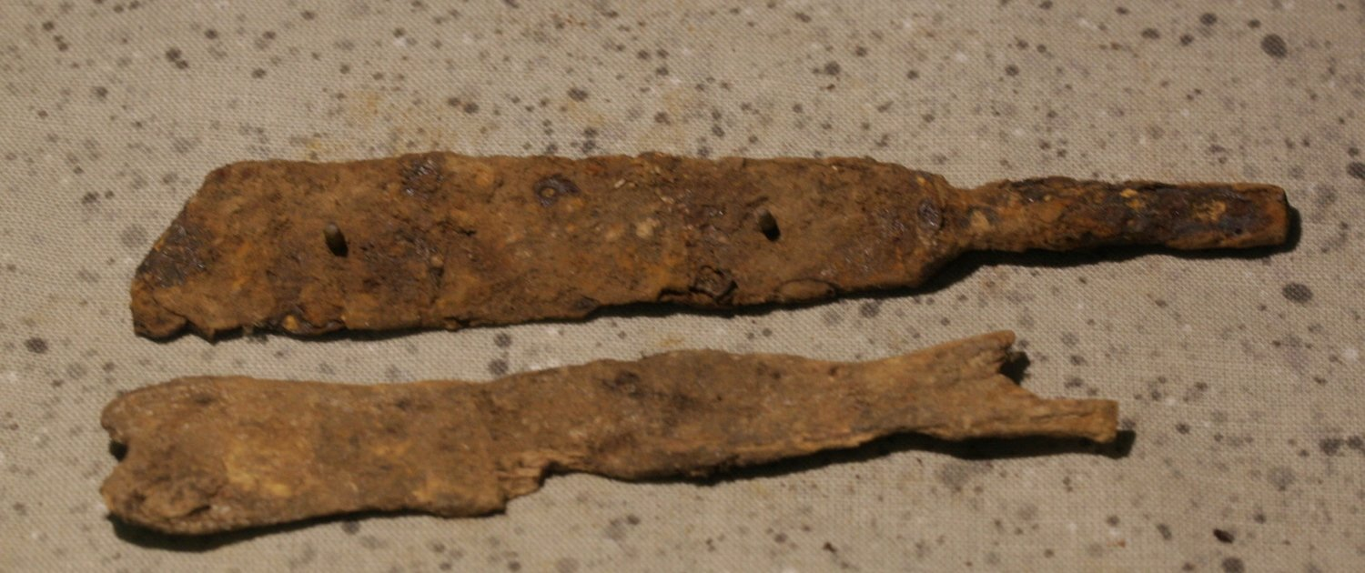 JUST ADDED ON 11/1 - CONFEDERATE CAMP / LEESBURG, VIRGINIA - Part of a Fork with Bone Handle Remains - from a Relic Hunter's Old Boxed Collection