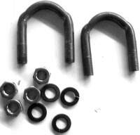 BOLT-U-DIFFERENTIAL HALF SHAFT-WITH WASHERS AND NUTS-327 ALL-396-427 WITH OUT POSI TRACTION-63-79 (#61184) 2D3