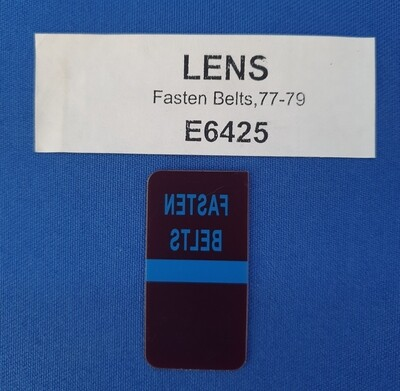 LENS-FASTEN SEAT BELTS-WARNING-77-79 (#E6425) 1F3