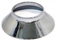 CONE-ALUMINUM KNOCK OFF WHEEL-W-BEAD AT TOP OF CONE-POLISHED STAINLESS STEEL-USA-EA-63-65 (#E3329)