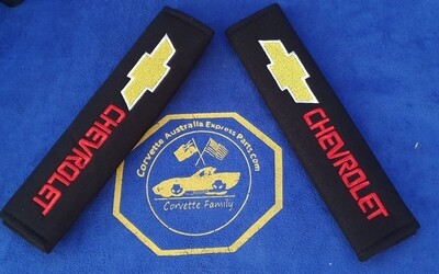 2pcs/set Universal Cotton Seat belt Shoulder Pads covers emblems for CHEVROLET
