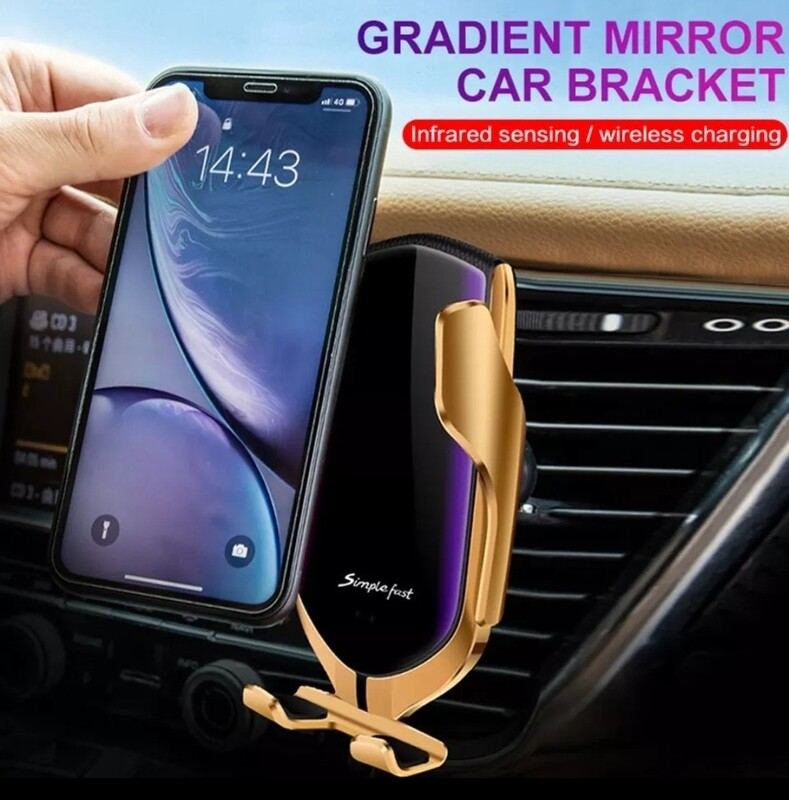 Automatic Clamping Infrared Auto Induction QI Car Wireless Charger Stand Fast Charging for iPhone 11 Pro Max XS Samsung S10 S20 3AA5