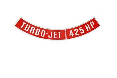 DECAL-AIR CLEANER-425 HP-65-66 (#E18588) 5C3