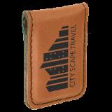 Leatherette  Money Clip (Custom Engraved)