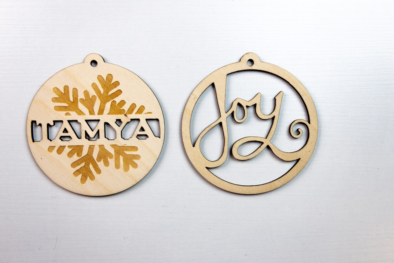 "4"" Laser CUSTOM Engraved Shape Cut-Out Christmas Ornament"
