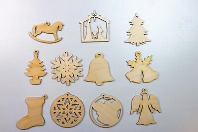 Cut-Out Shape Christmas Ornament
