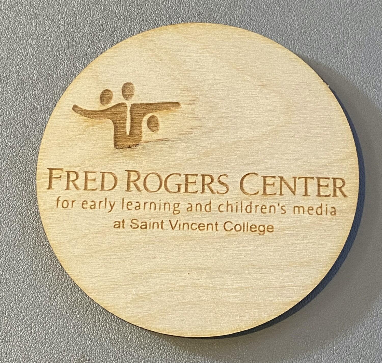 """4"""" Custom Engraved Wooden (Birch) Round Coaster"""