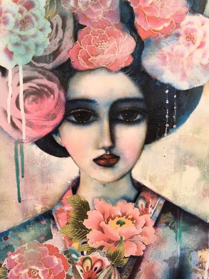 Tea Rose Geisha limited edition print