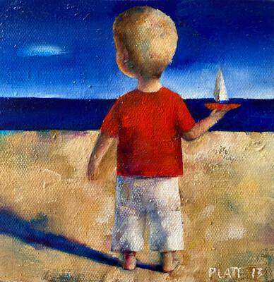 Boy On A Beach Limited Edition Print