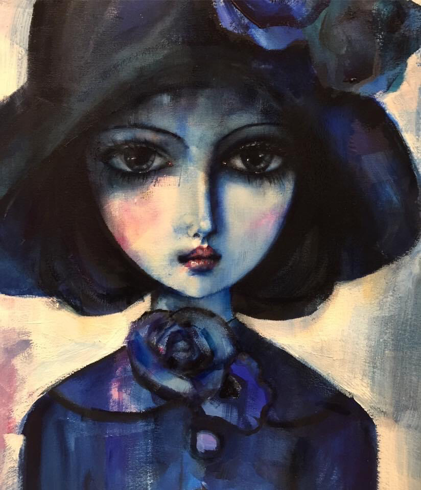 Girl In A Black Hat Limited Edition Print