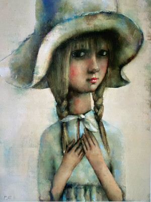 Girl In A White Hat Limited Edition Print