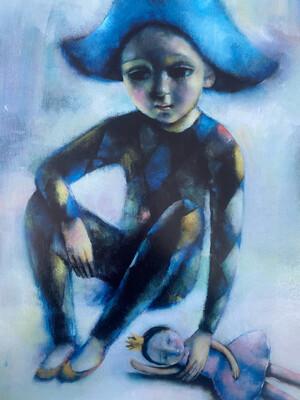 Blue Harlequin Limited Edition Print