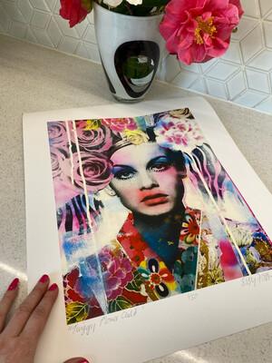 Twiggy Flower Child Limited Edition Print