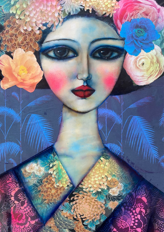 Blue Peony Geisha