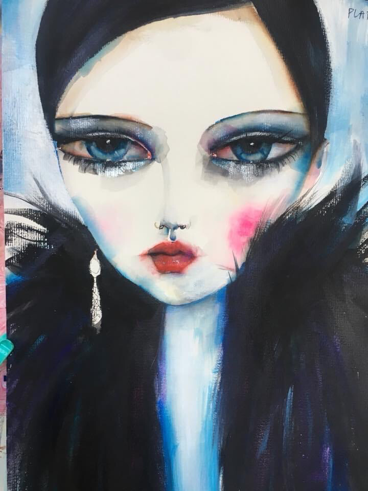 Girl In Black Fur Limited Edition Print