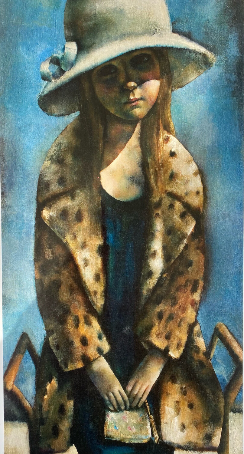 Girl On A Piano Stool Limited Edition Print