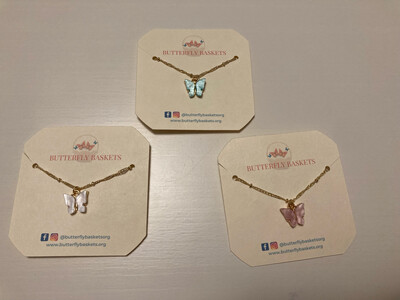 Butterfly Necklace & Card - ships free!