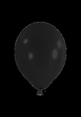 Latexballon, 25 cm, schwarz