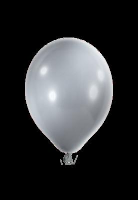Latexballon, 25 cm, metallic silber