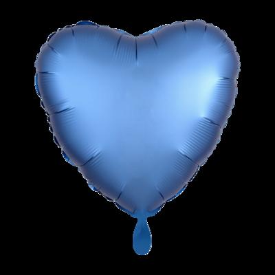 Herz SatinLuxe Azurblau