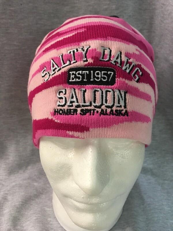 Knit Pink Camo Beanie