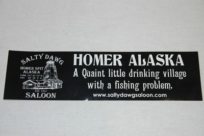 Black Bumper Sticker