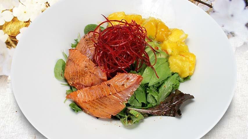 Wild Sockeye Salmon Mango Salad