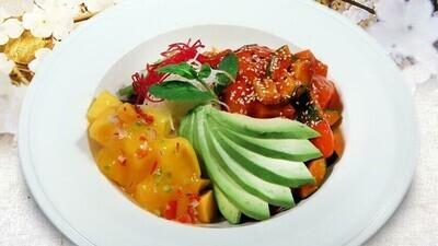 Golden Spicy Tuna Sashimi