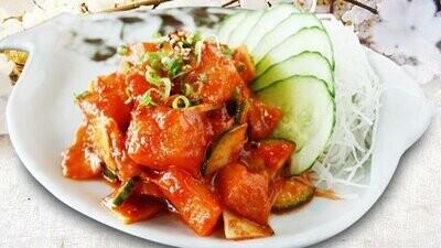 Spicy Sockeye Salmon Sashimi