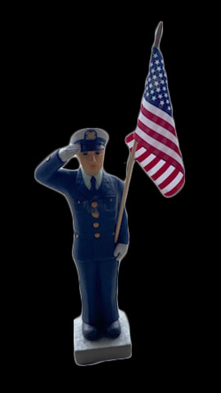 """27"""" Coast Guard Statue w/ Flag"""