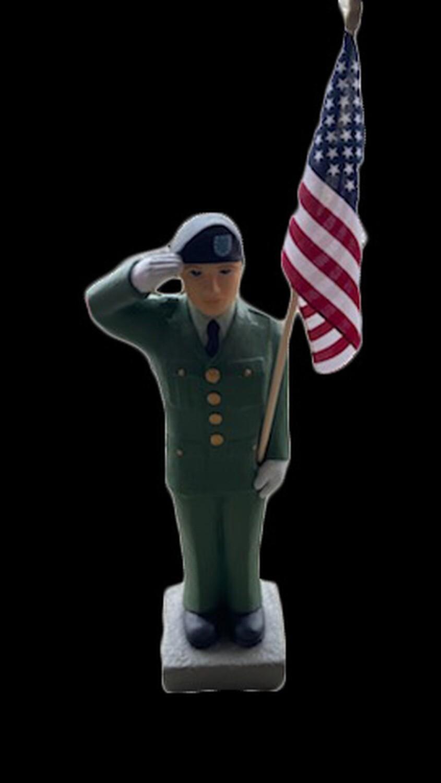 """27"""" Army Soldier w/ Flag"""