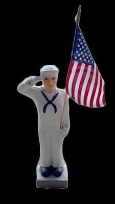 "27"" Navy Statue w/ Flag"