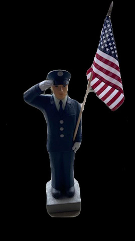 """27"""" Air Force Statue w/ Flag"""