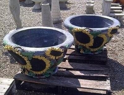 Lg. Sunflower Pot